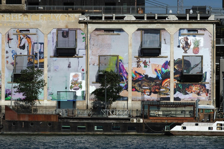 La Sucrière, Entre-temps... Brusquement, et ensuite, 12 Biennale de Lyon, France, 2013 - Fachada