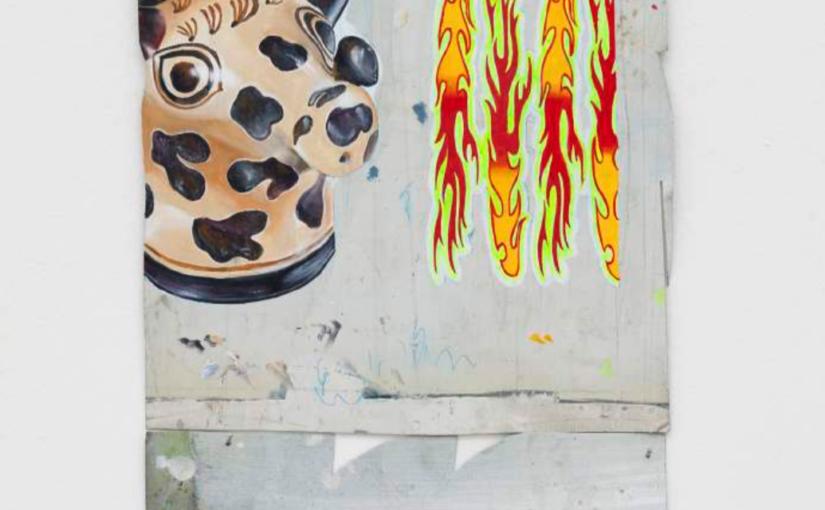 Paulo Nimer Pjota War, 2017 acrylic on iron 60 × 30 cm